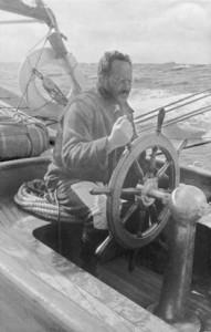 Dudley Wolfe aboard Highland Light