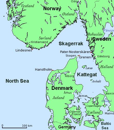 skagerrak map