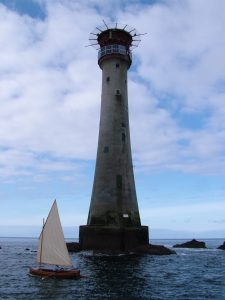 sailing away from the eddystone lighthouse