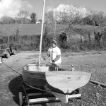 launching a traditional dinghy