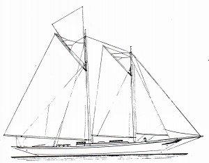 Elise original sail plan